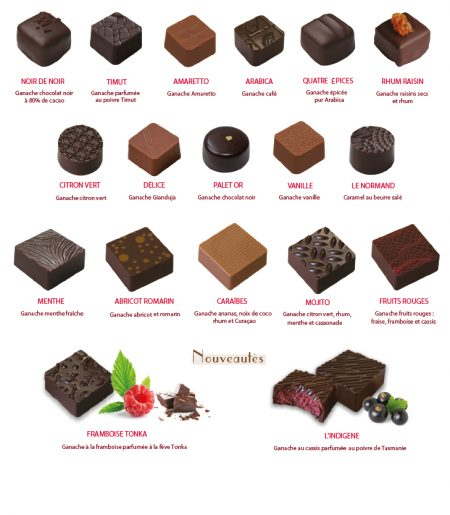 Chocolats ganache Pécou