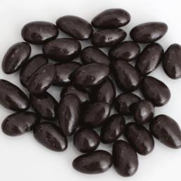Amandes grillées au chocolat noir