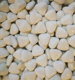 Dragées cœur blanc