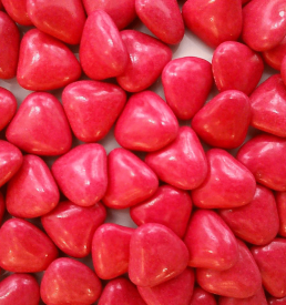 dragées cœur framboise