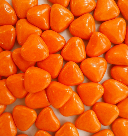 dragées cœur orange