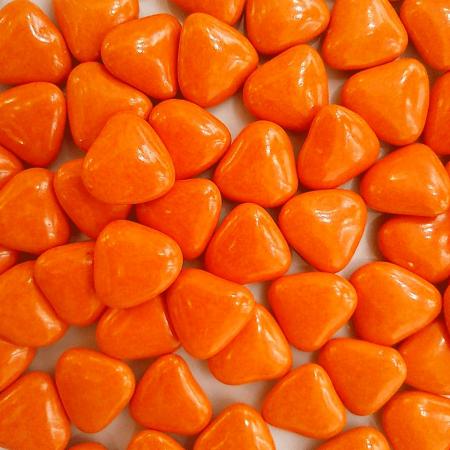 dragées cœur orange