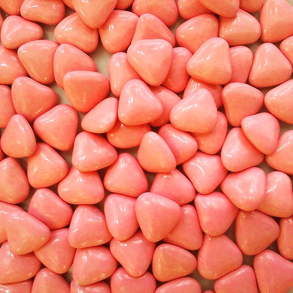 dragées cœur rose nacarat