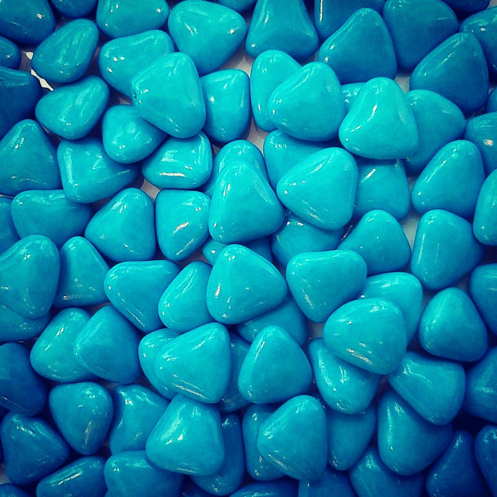 Dragées cœur turquoise
