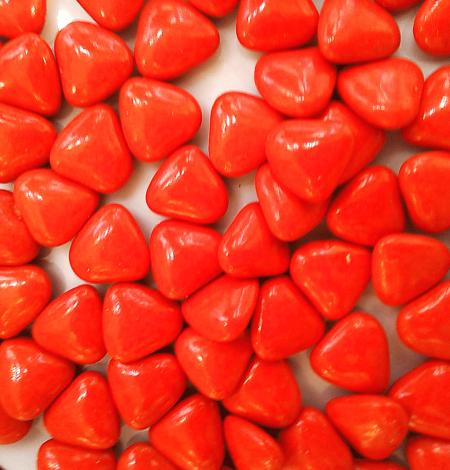 Dragées cœur rouge