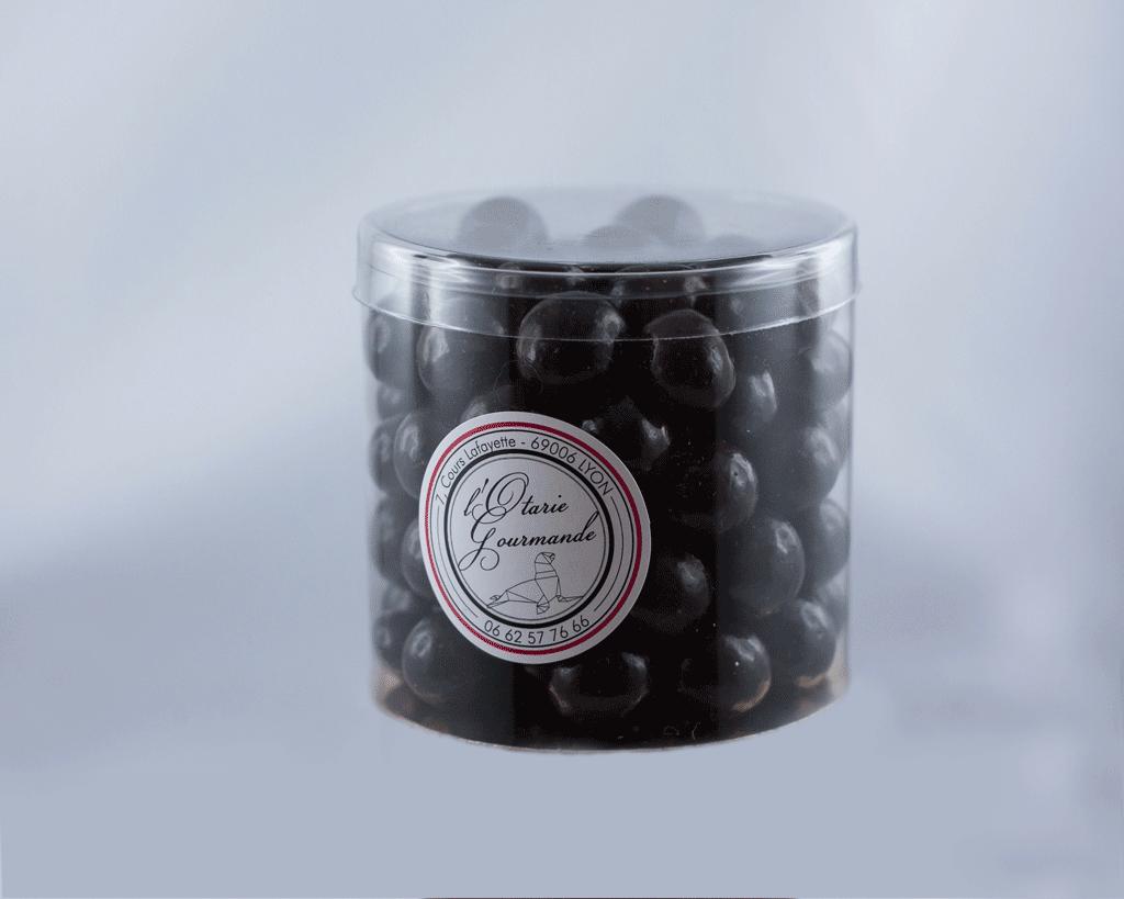 noisettes grillées au chocolat noir