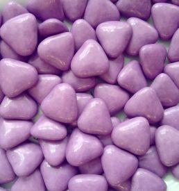 dragées cœur lilas