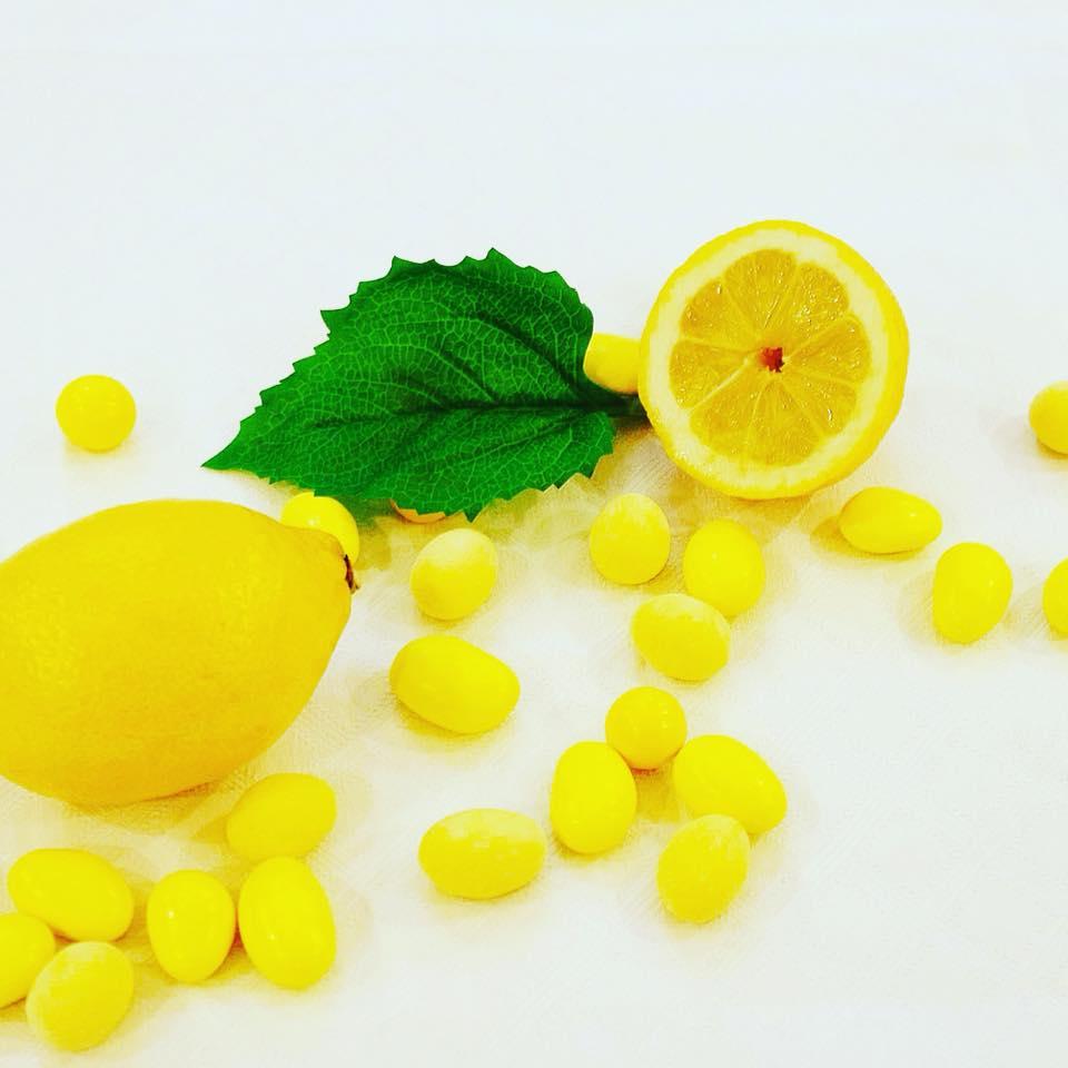 dragées saveur citron