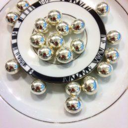 perles noisettes argent