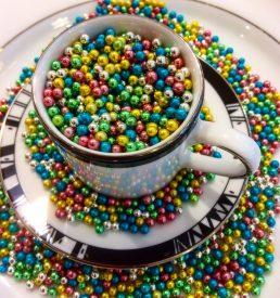 Perles de sucre multicolore