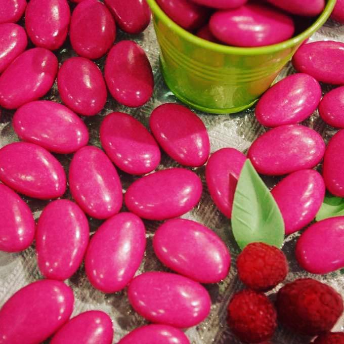 dragées yaourt framboise