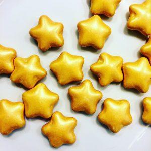 Dragées étoiles chocolat or 500g