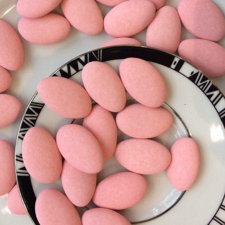 Dragées chocolat rose mat