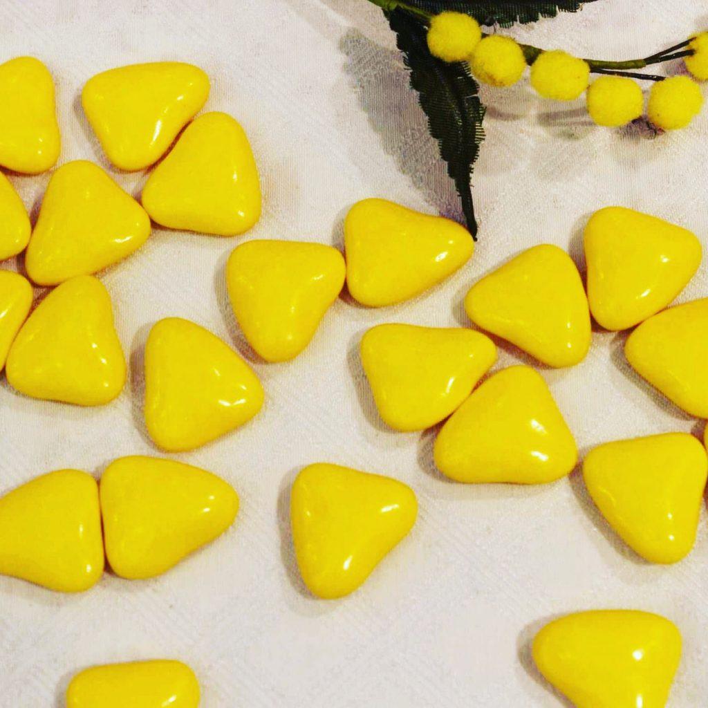 dragées coeur jaune