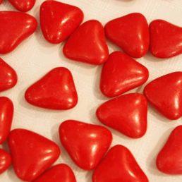 dragée cœur rouge