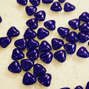Dragées coeur bleu marine 250g