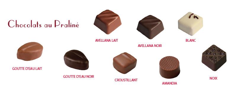chocolats praliné Maison Pécou