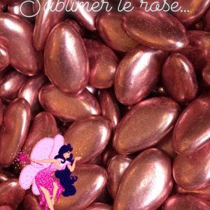 Dragées au chocolat rose gold 250g