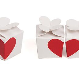boîtes à dragées coeur