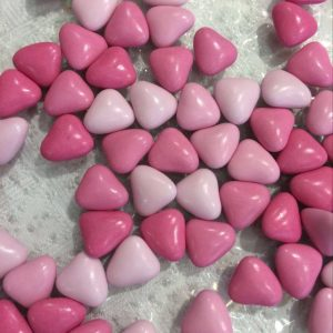 Dragées mini coeurs roses 500g