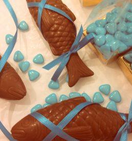 poisson en chocolat (lait ou noir)
