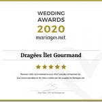 Diplôme Wedding Awards Ilet Gourmand