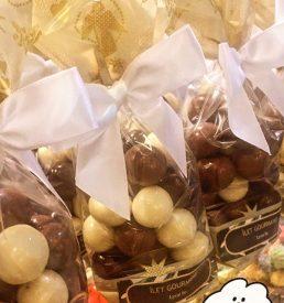 Cerises confites enrobées de chocolat
