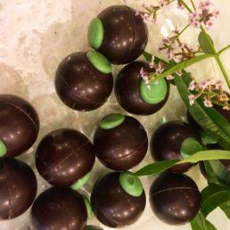 Chocolats noir verveine