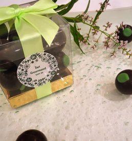 chocolats noir à la verveine