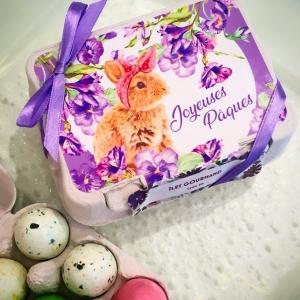 Boîte à oeufs de Pâques au chocolat