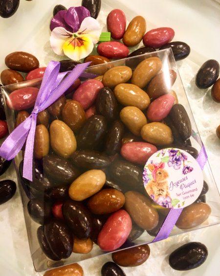amandes grillées au chocolat