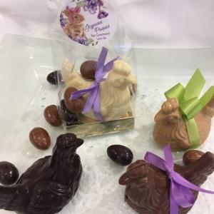 Poule de Pâques en chocolat