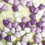 mini coeurs violet