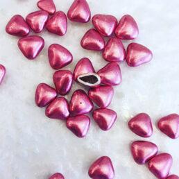dragées mini coeurs rose gold